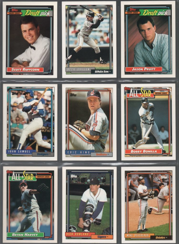 1992 Topps Set Needs