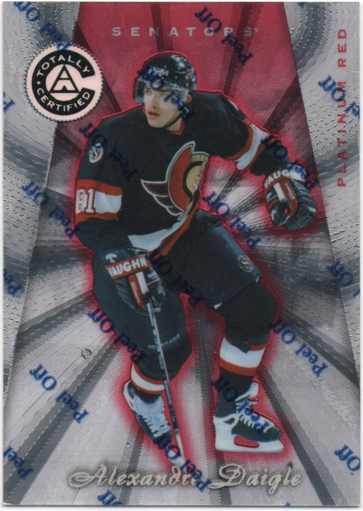 1997-98 Pinnacle Totally Certified Platinum Red #98 Alexandre Daigle /6199