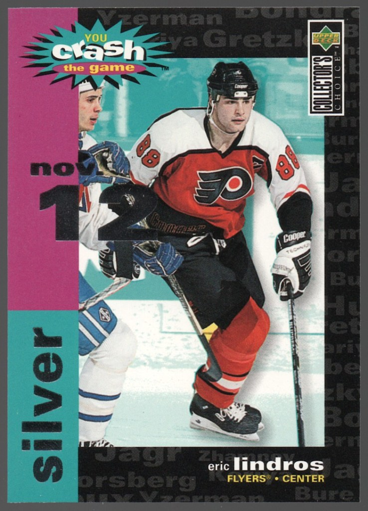 1995-96 Upper Deck Collector's ChoiceCrash the Game Silver #C4 Eric Lindros