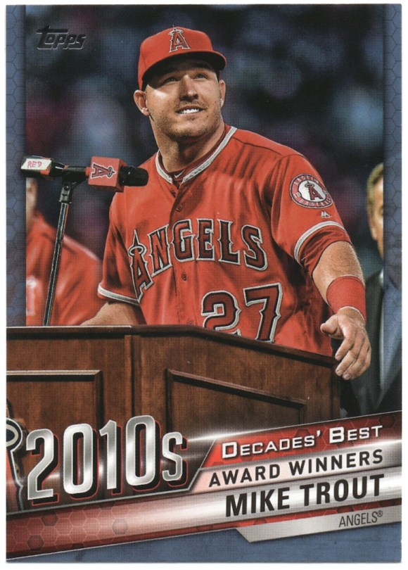 2020 Topps Series 1 Decades' Best Blue #DB-93 Mike Trout