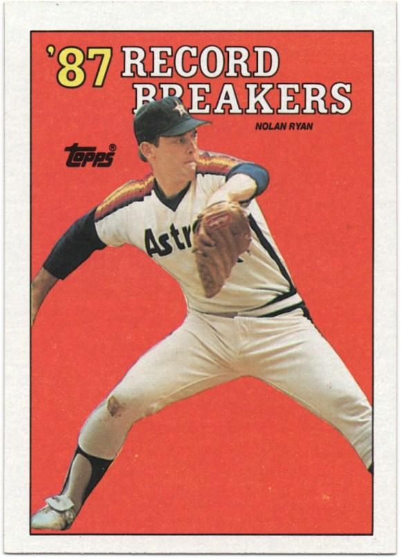 1988 Topps #6 Record Breakers Nolan Ryan