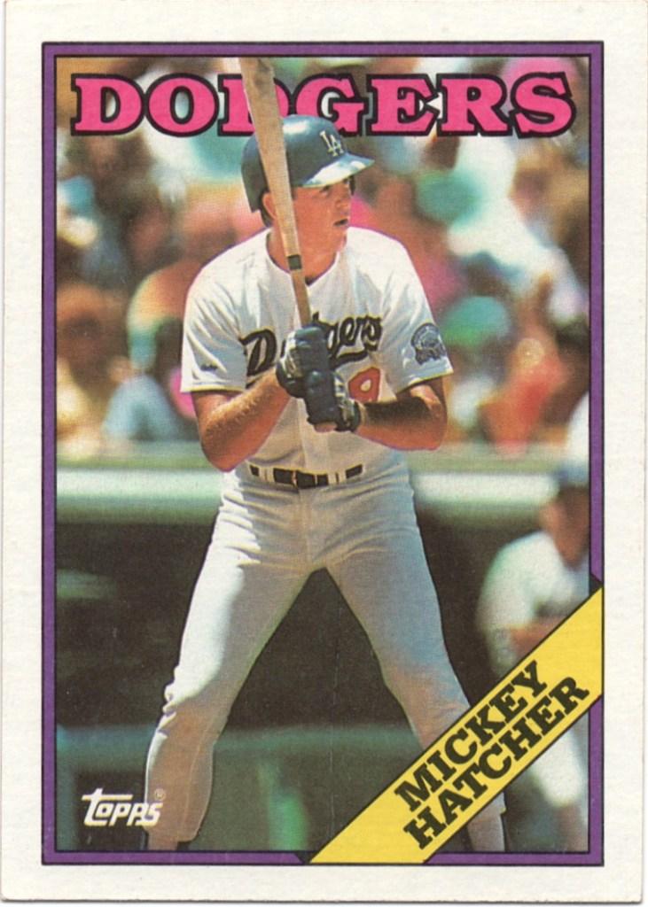 1988 Topps #607 Mickey Hatcher