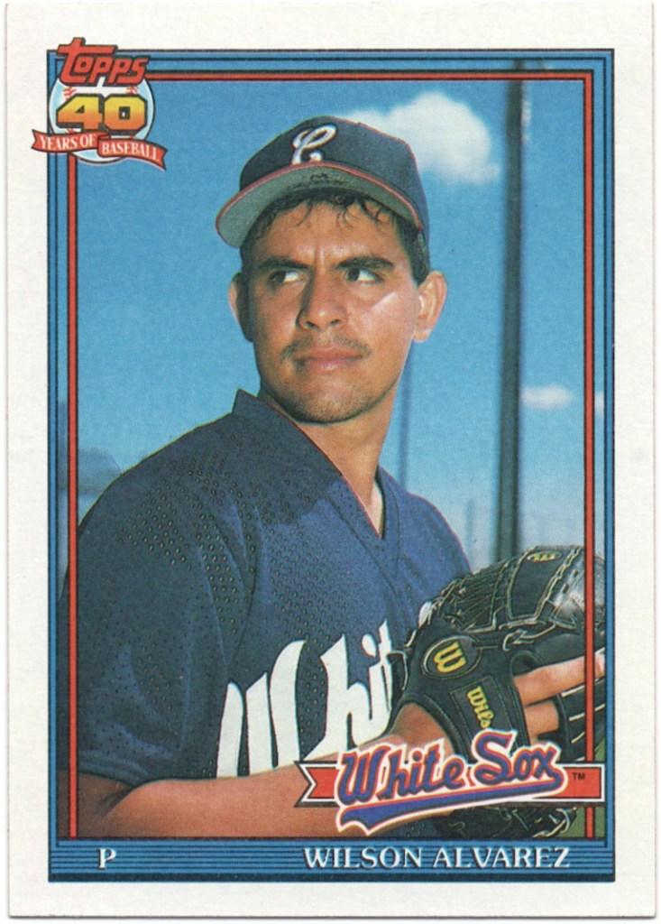 1991 Topps #378 Wilson Alvarez (Missing stats 89 Port Charlotte and 90 Birmingham)