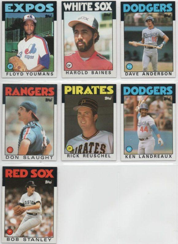 1986 Set Needs