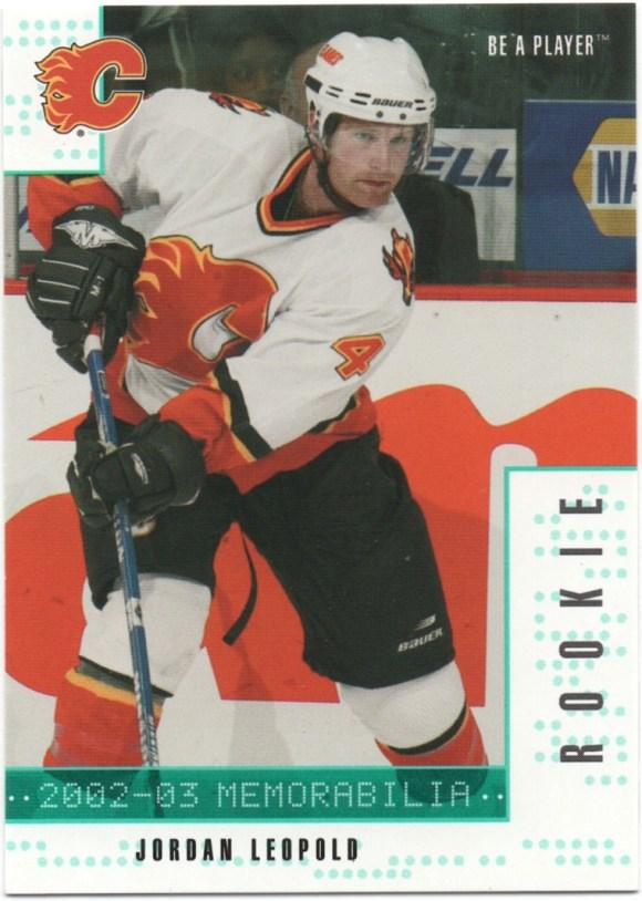 2002-03 Be a Player Memorabilia - Emerald #283 Jordan Leopold /10