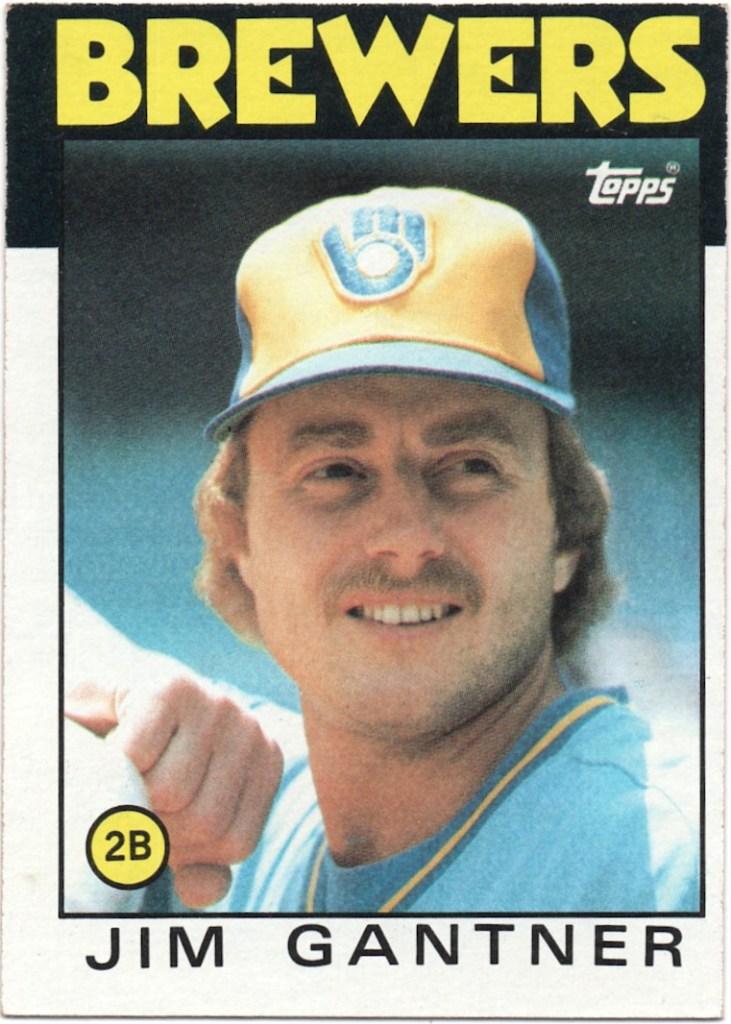 1986 Topps #582 Jim Gantner