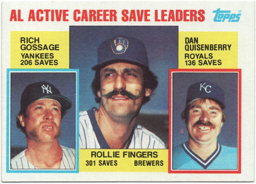 1984 Topps #718 Rollie Fingers / Rich Gossage / Dan Quisenberry