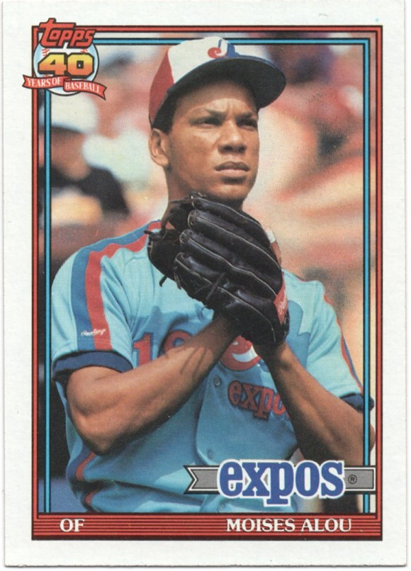 1991 Topps #526 Moises Alou 37 runs in 1990 for Pirates