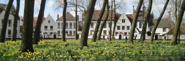 Bruges' Begijnhof in spring