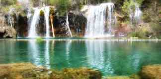 Waterfall at Hanging Lake, Colorado