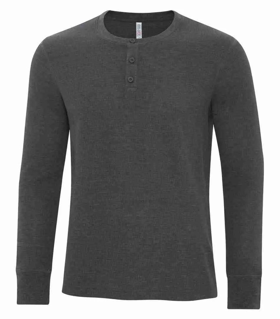ATC ESACTIVE VINTAGE THERMAL LONG SLEEVE HENLEY. ATC8064