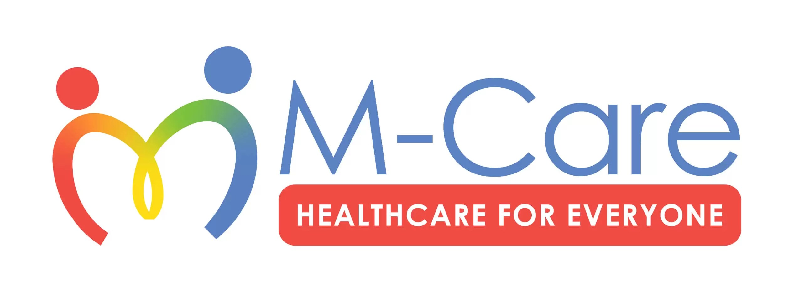 Secondary logo for M-Care with rainbow colors