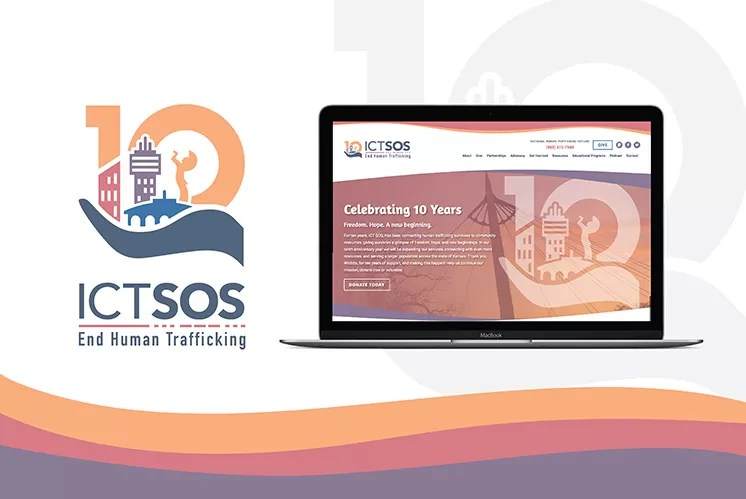 Baseline designed a new logo and website for ICT SOS