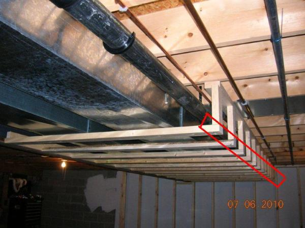 Basement Soffits And How To Build Them Basement Finish Design - Framing a basement