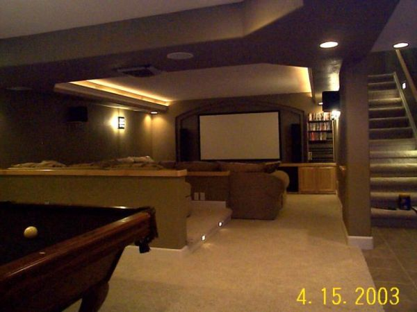 Basement Design Photo Gallery of finished basement designs USA