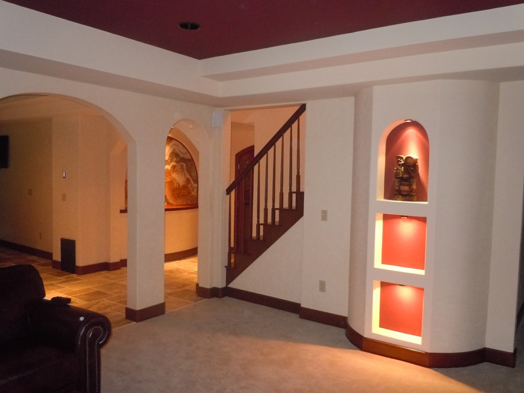 Finishing A Small Basement basement finish design – basement design & planning service