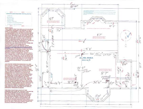 The Client Then Returns The First CAD Image With His Corrections!