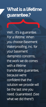 Basement Waterproofing Guarantee in Adirondack Area