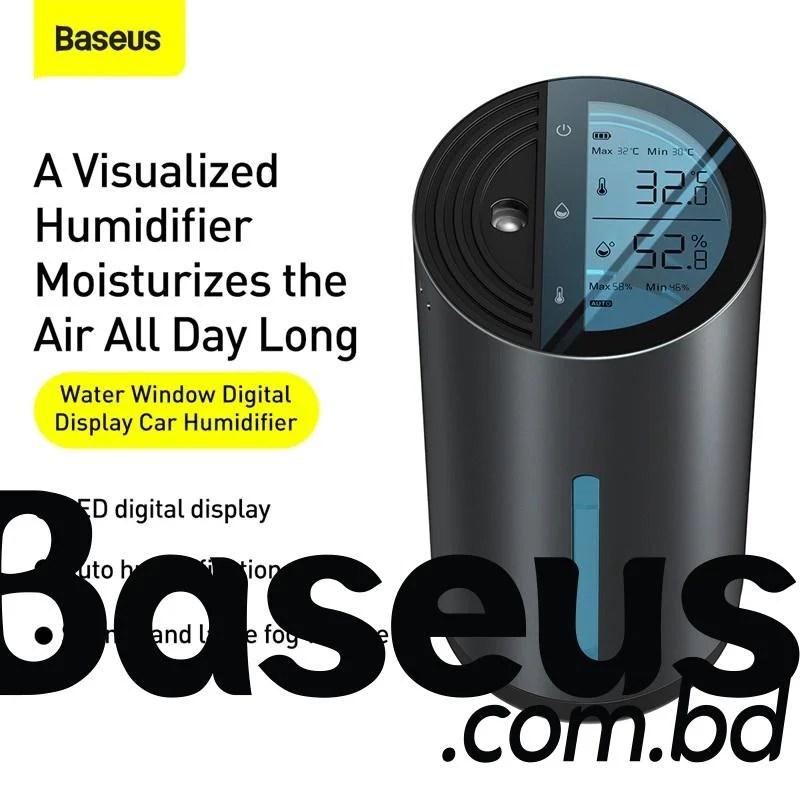Baseus Water Window Digital Display Car Humidifier with Temperature and Humidity Sensing Wireless Version Black CRJSQ02-01 9
