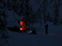 Ons hutje, gelukkig slapen we in de iglo