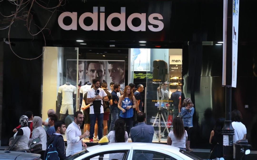 متجر أديداس من شارع المقدسي إلى شارع الحمراء في بيروت