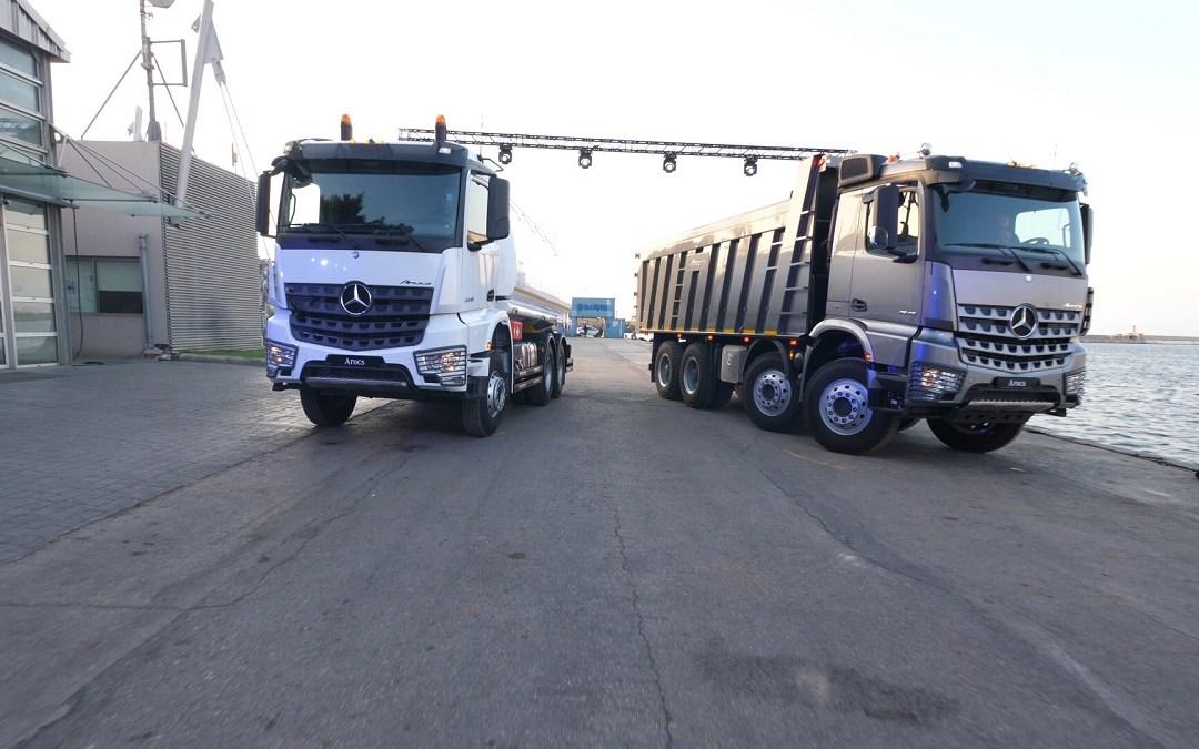 ت. غرغور وأولاده تطلق في لبنان مرسيدس-بنز أروكس الشاحنة الثقيلة الجديدة كليًا في مرفأ بيروت