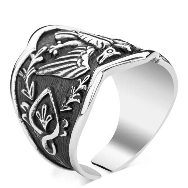 خاتم ارطغرل الابهام - شعار القوة - 120 غرام