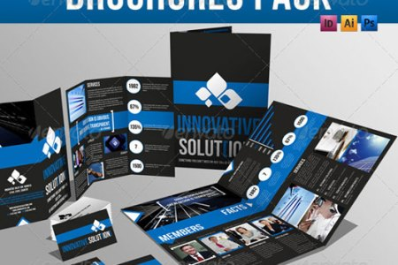 40 High Quality Brochure Design Templates   Web   Graphic Design     Brochure Pack A4 Trifold Leaflet Business Card