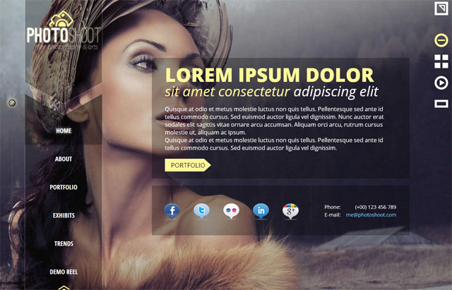 Edit text, text styles, backgrounds, size, and. 15 Beautiful Photography Website Templates Bashooka
