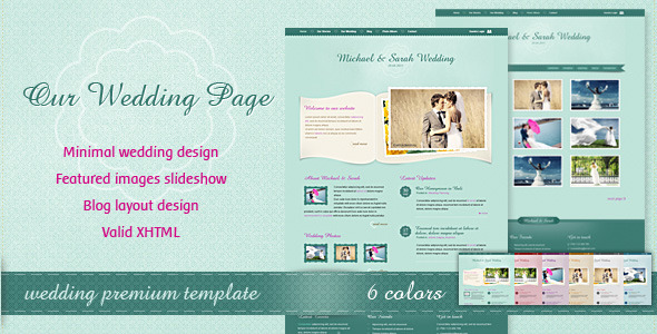 Elegant Html Wedding Website Templates