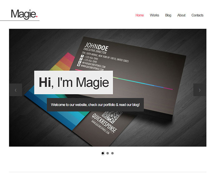 Magie - One Page Website Template