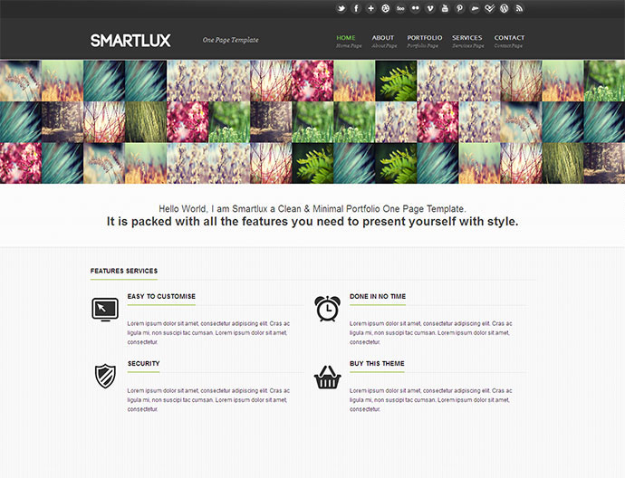 Smartlux HTML/CSS One Page Template