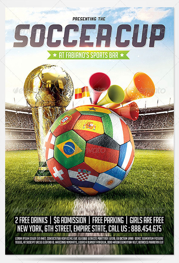 14 World Cup Brazil PSD Flyer Templates Web Amp Graphic