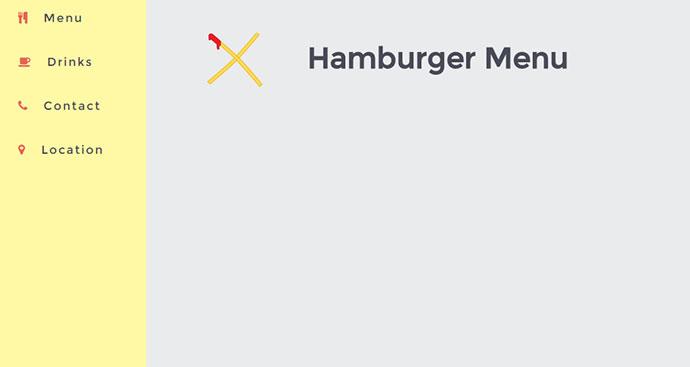The ultimate hamburger menu