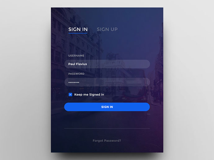 50 Modern Sign Up Login Form UI Designs Web Graphic Design Bashooka