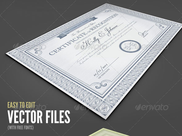 35 Best Certificate Template Designs   Web   Graphic Design   Bashooka Certificate Templates