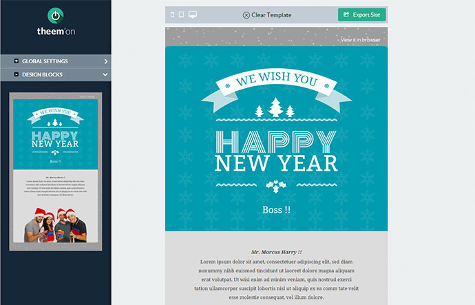 new year wishes email template merry christmas and happy new year 2018