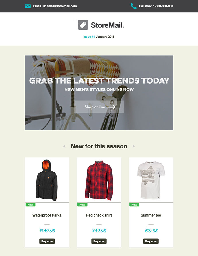 """You can also download the """"slate"""" email template package. 20 Best Responsive E Commerce Email Templates 2019 Bashooka"""