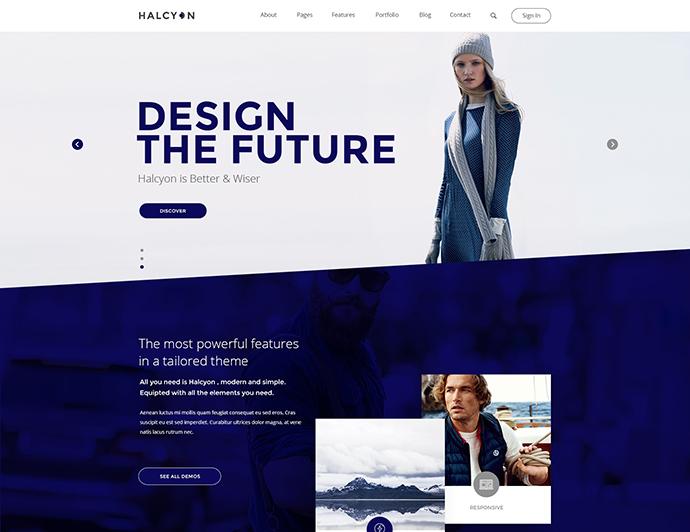 Halcyon - Multipurpose Modern Website PSD Template