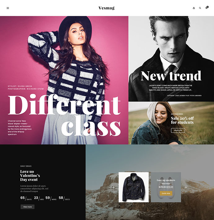 Vesmag - Responsive eCommerce PSD Template