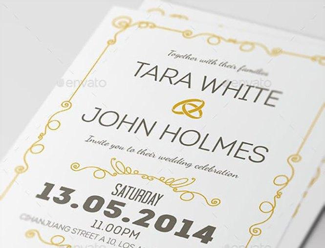 Psd Wedding Invitation Templates