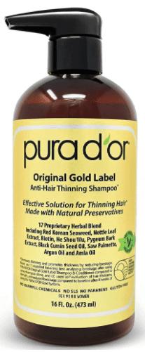 شامبو بيورا دور جولد لابل لتساقط الشعر طبي PURA D'OR Anti-Hair Loss Shampoo