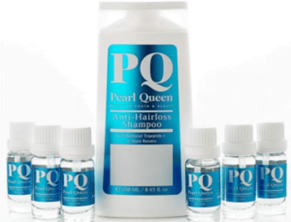 شامبو وسيرم بي كيو بيرل كوين لتساقط الشعر طبي PQ Pearl Queen Anti Hair loss Shampoo & Serum