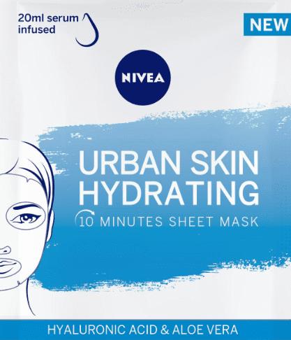 ماسك نيفيا nivea urban skin hydrating العناية الاساسية للوجه من الصيدلية