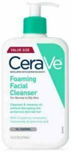 غسول سيرا في Cerave Foaming Facial cleanser للبشرة الدهنية