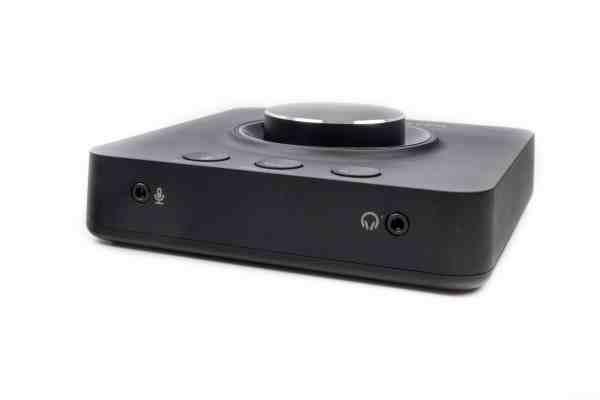 Tried an external sound card: the Creative Sound Blaster X3