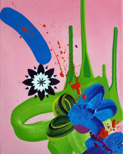 JAMES TEBBUTT  pink and green