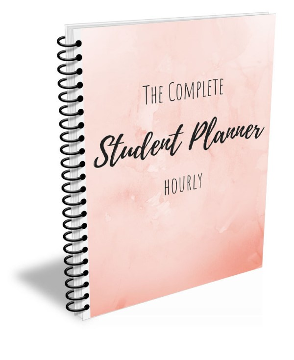 hourly student planner cover