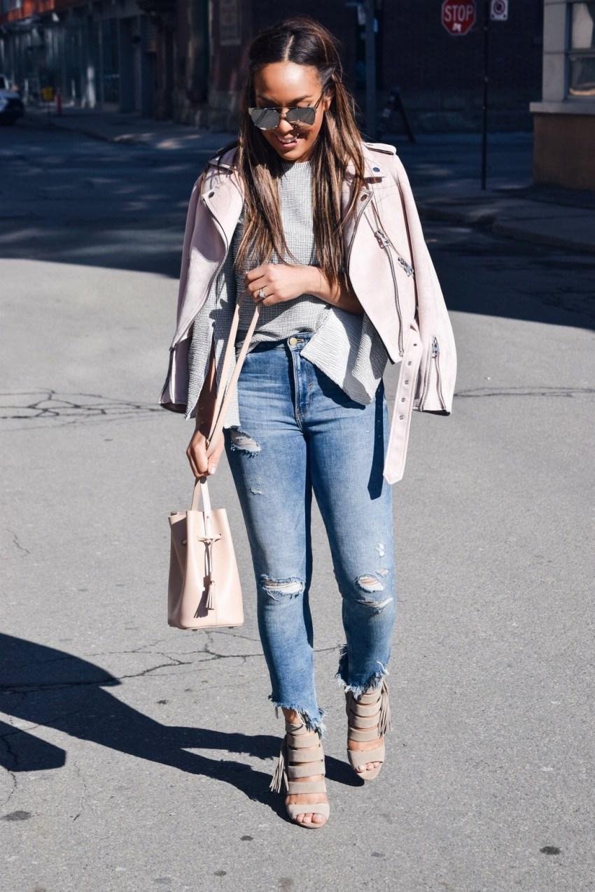 blush moto jacket