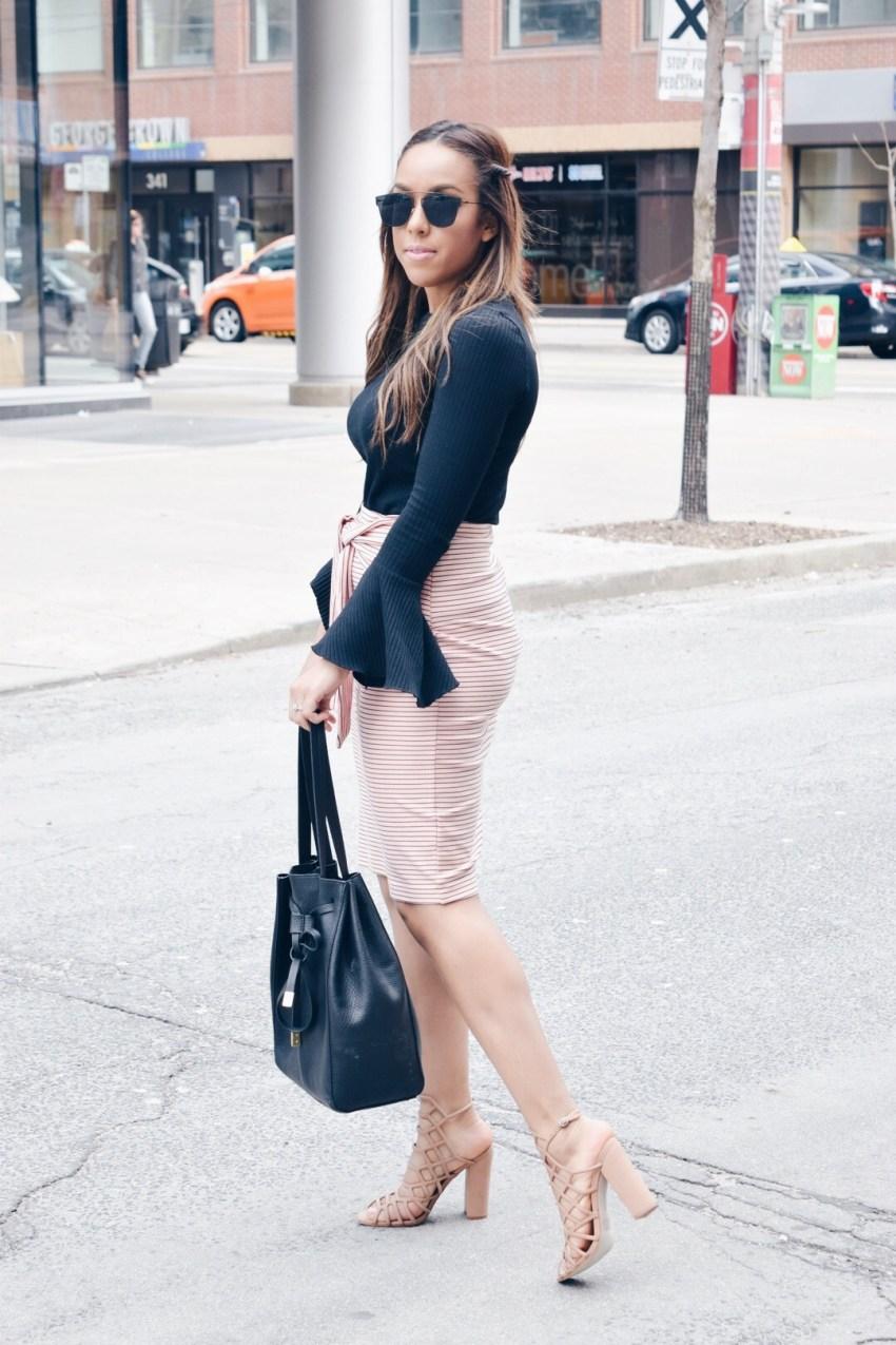 tie up pencil skirt